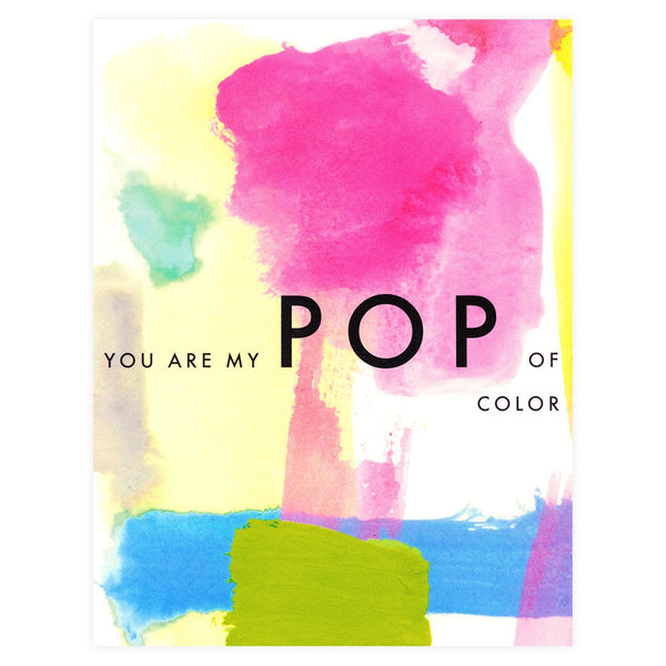My Pop Of Color Greeting Card By Dear Hancock