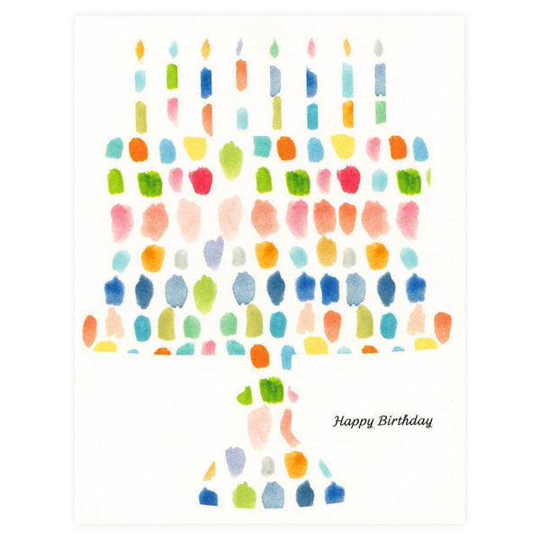 Paint Palette Birthday Cake Card - GREER Chicago Online Stationery