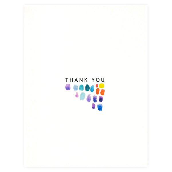 Paint Strokes Folded Thank You Card By Dear Hancock