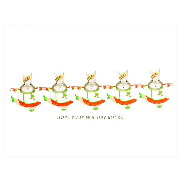 Rockette Bunnies Holiday Cards Set By Dear Hancock