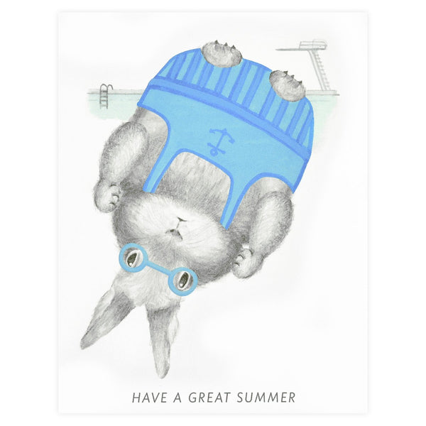 Summer Bunny Greeting Card