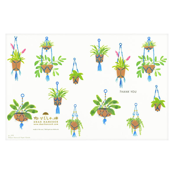 Dear Hancock Thank You Macrame Folded Cards Set - GREER Chicago Online Stationery Shop