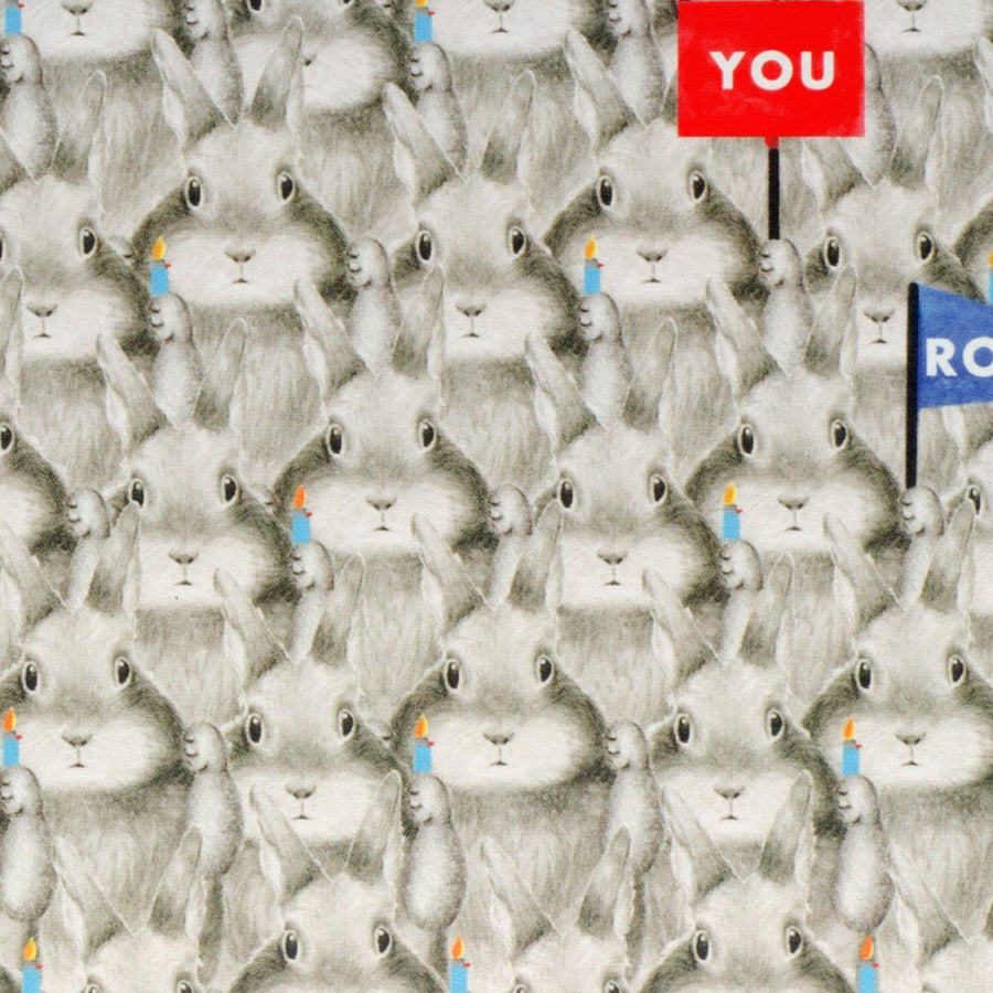 Dear Hancock You Rock Bunnies Card - GREER Chicago Online Stationery Shop