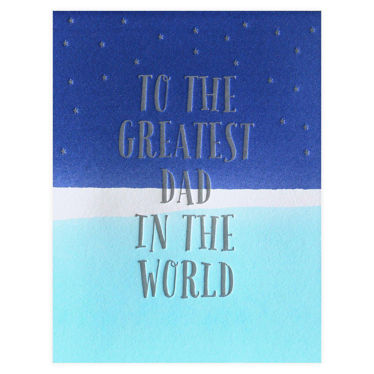 Dee & Lala Dip Dye Greatest Dad In The World Father\'s Day Card ...