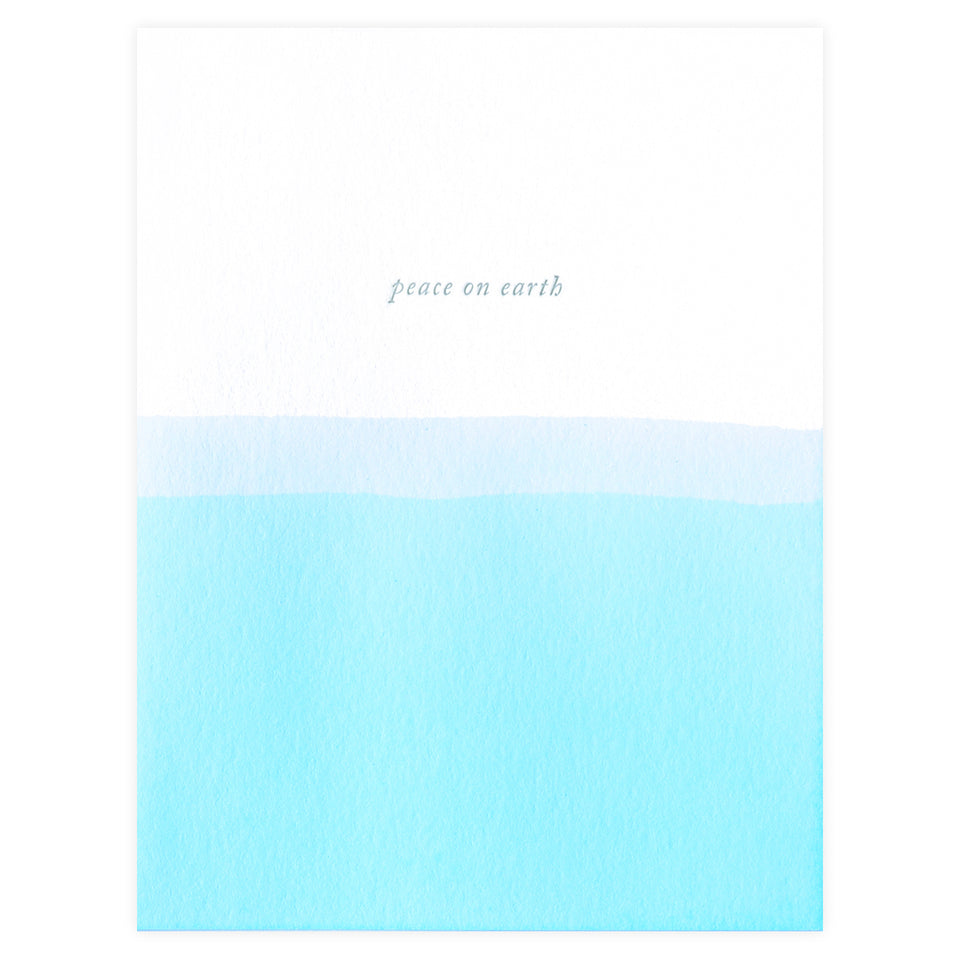 Dee & Lala Dip Dye Peace on Earth Holiday Cards Boxed