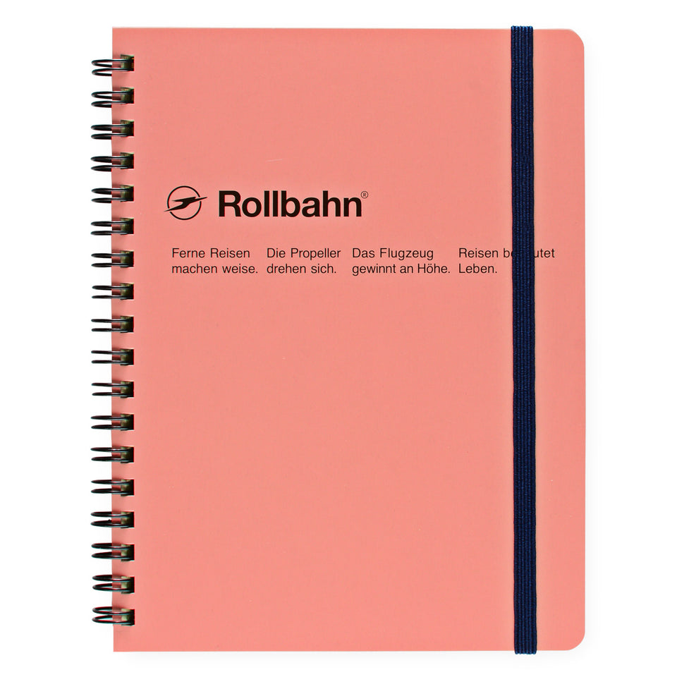 Delfonics Rollbahn Notebook Small, Large Or A5 | 6 Colors Blush Pink / Small