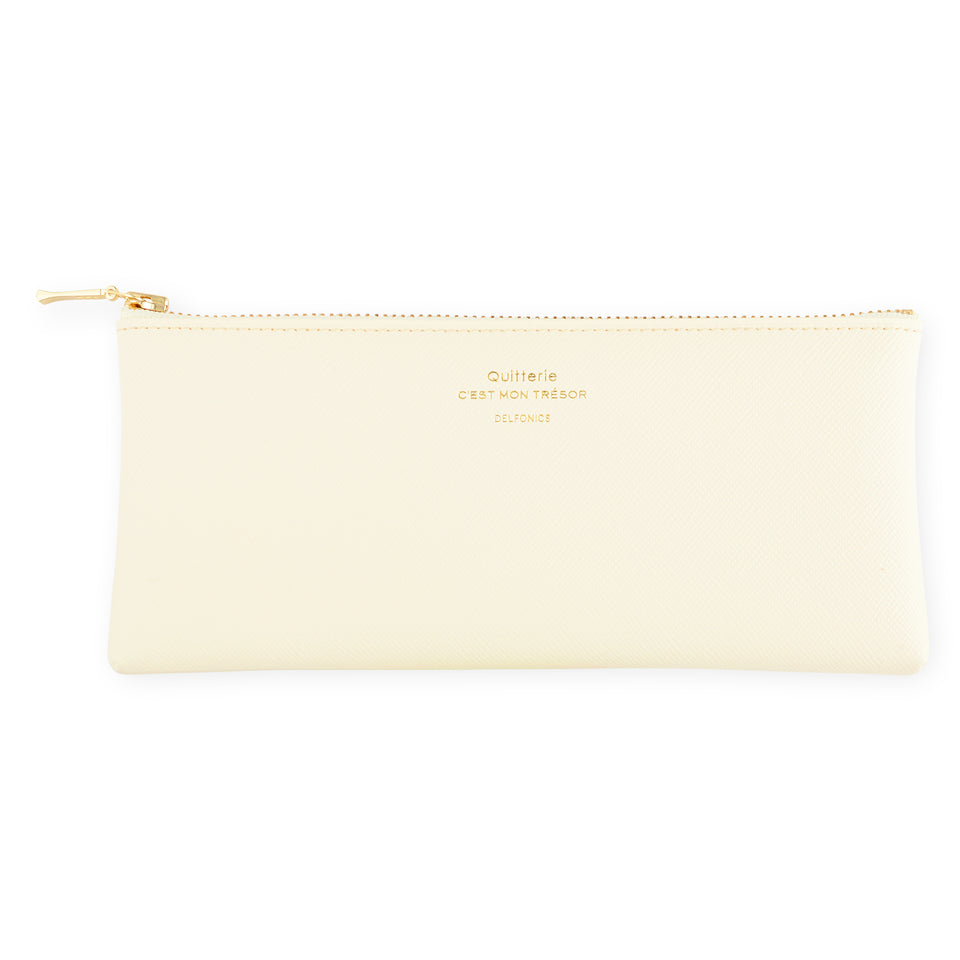 Delfonics Quitterie Flat Pen Pencil Case Cream