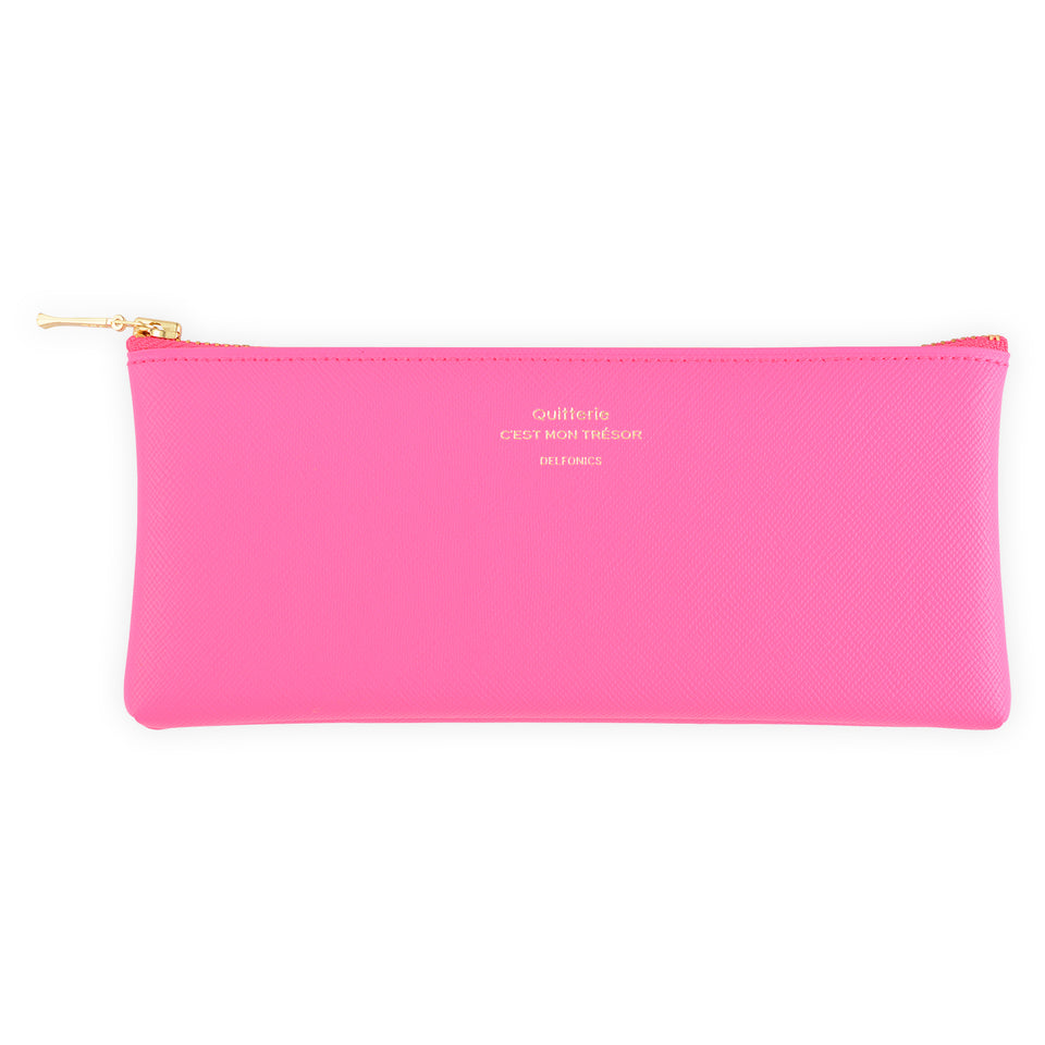 Delfonics Quitterie Flat Pen Pencil Case Pink