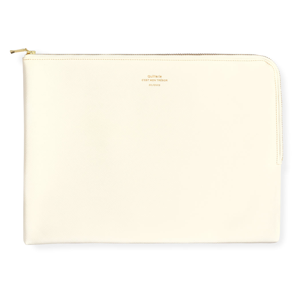 Delfonics Quitterie Large Zip Pouch Cream