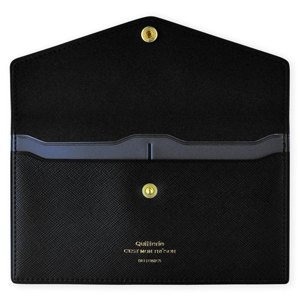 Delfonics Quitterie Multi-Card Case Pouch Black - GREER Chicago Online Stationery Shop