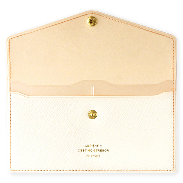 Delfonics Quitterie Multi-Card Case Pouch Cream - GREER Chicago Online Stationery Shop