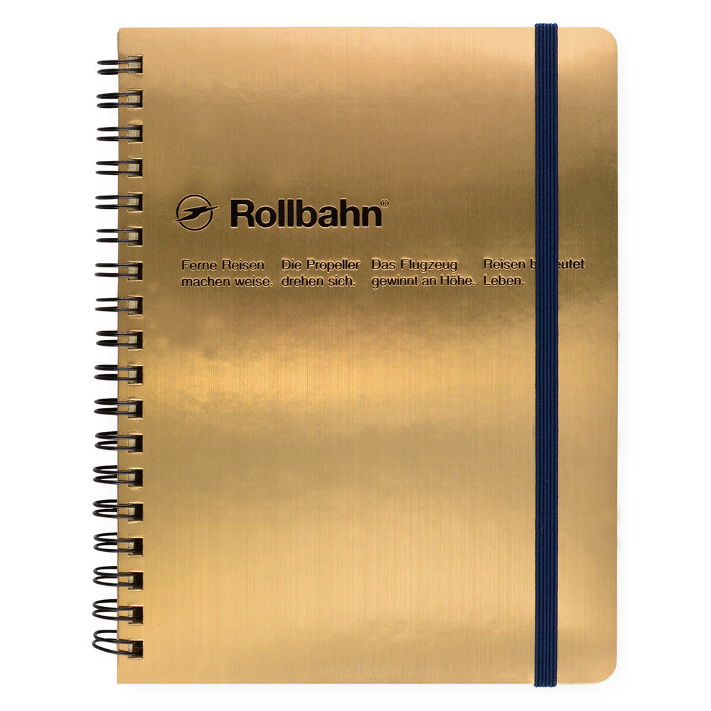 Delfonics Rollbahn Notebook Gold | In Three Sizes