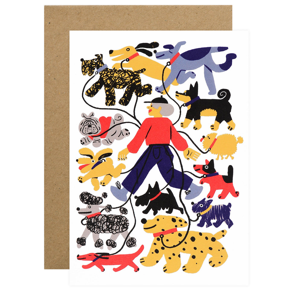 Wrap Dog Walker Card
