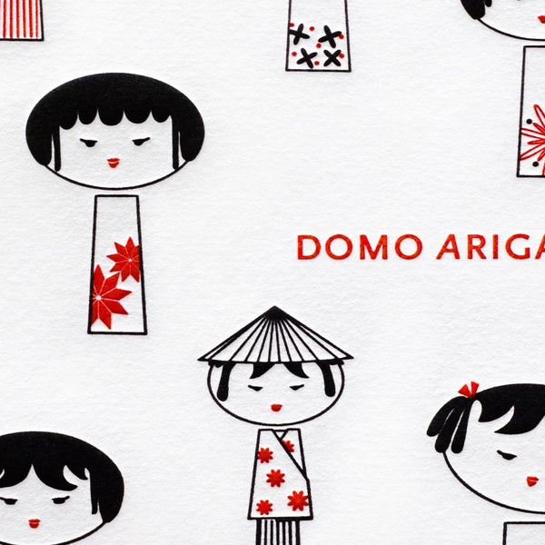 Domo Arigato! Boxed Folded Thank You Cards By Tiselle - 1