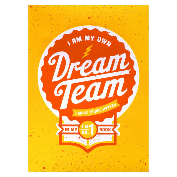 Dream Team Lined Notebook By Lure Paper Goods