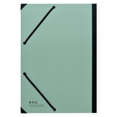 Darling Clementine Dusty Mint Linen Hardcover Folder - GREER Chicago Online Stationery Shop