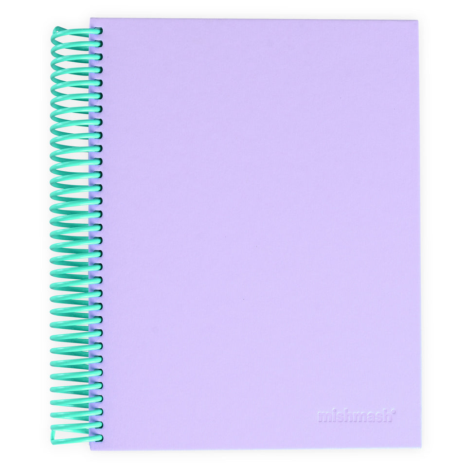 mishmash Easy Breezy Notebook | Lavender Dot Grid or Sky Blue Lined Lavender Dot Grid