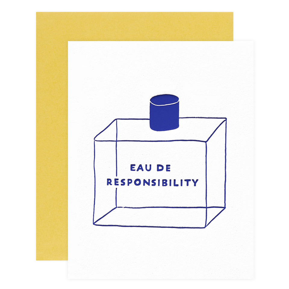 Friendly Fire Paper Responsibility Greeting Card
