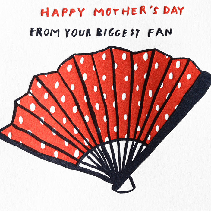 Egg Press Biggest Fan Mother's Day Card - GREER Chicago Online Stationery Shop
