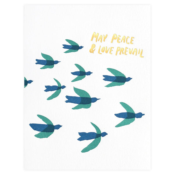 Peace & Love Prevail Holiday Cards Boxed By Egg Press