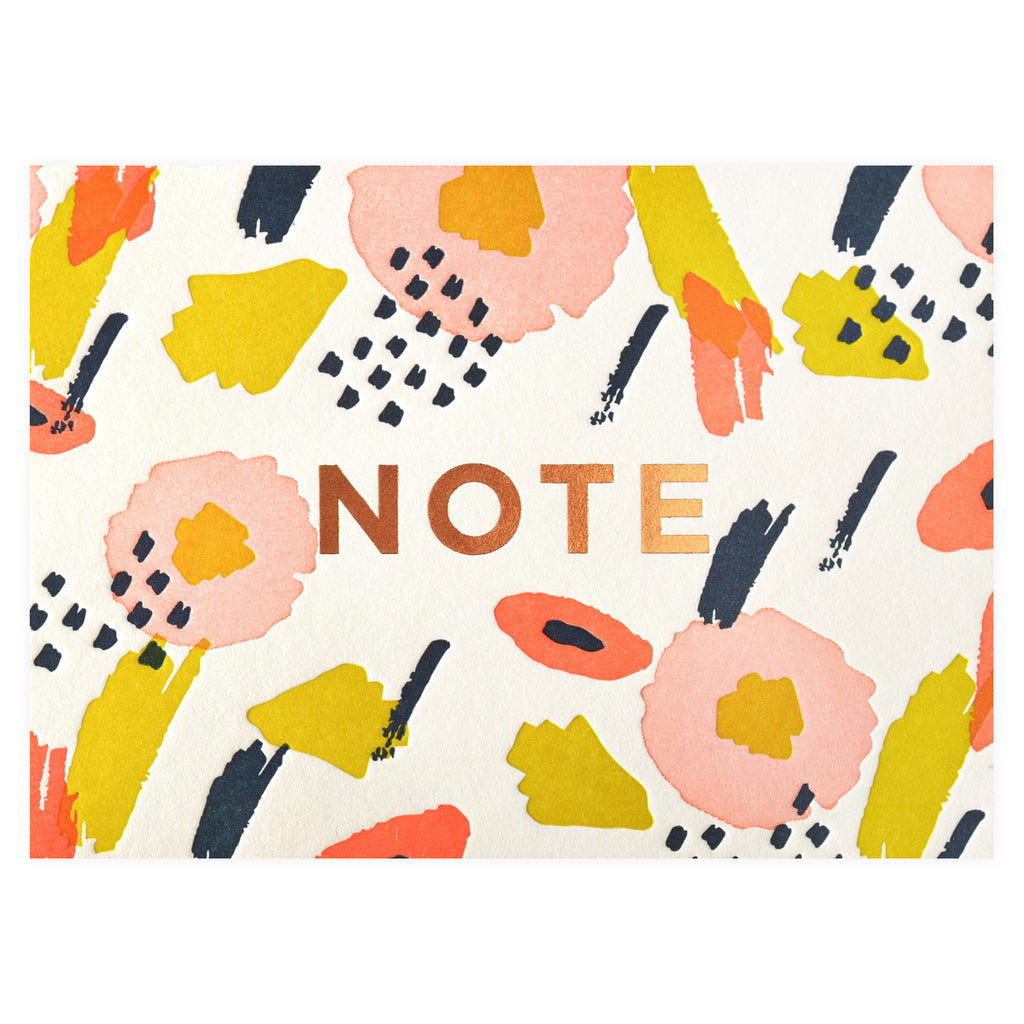 Elum Abstract Flower Folded Note Card