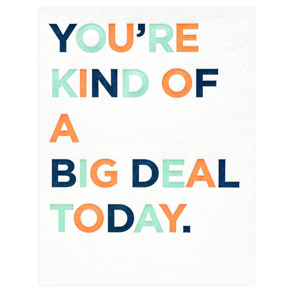 Big Deal Birthday Card - GREER Chicago Online Stationery