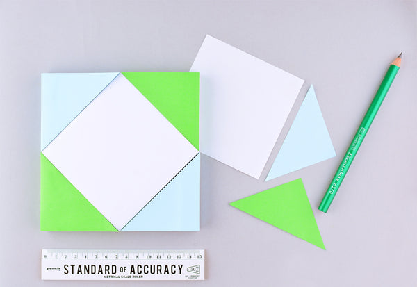 Elum Angles Color Block Sticky Notes Notepad - GREER Chicago Online Stationery Shop