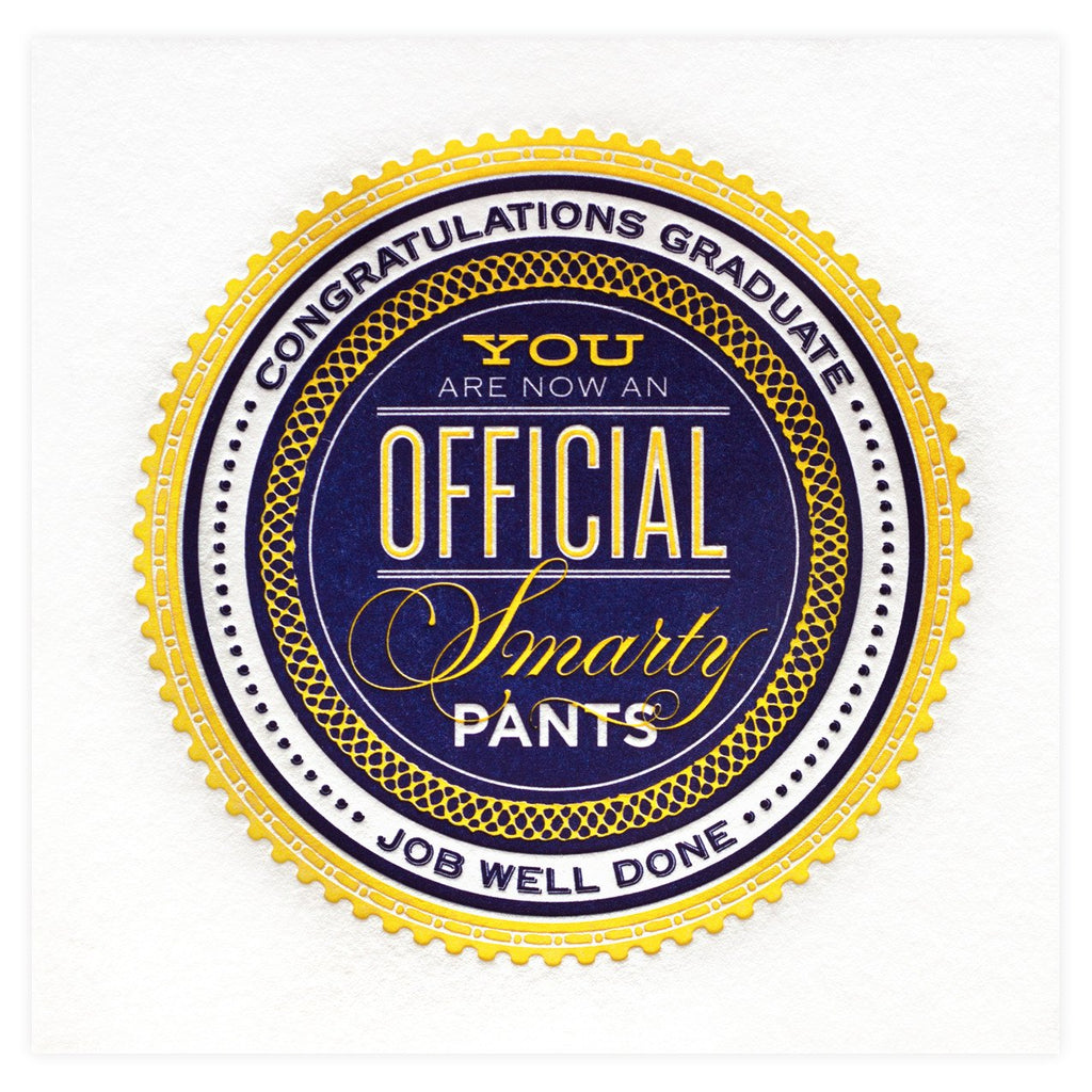 Official Smarty Pants Graduation Card - GREER Chicago Online Stationery