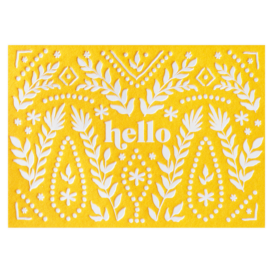 Elum Prairie Hello Folded Note Cards Boxed