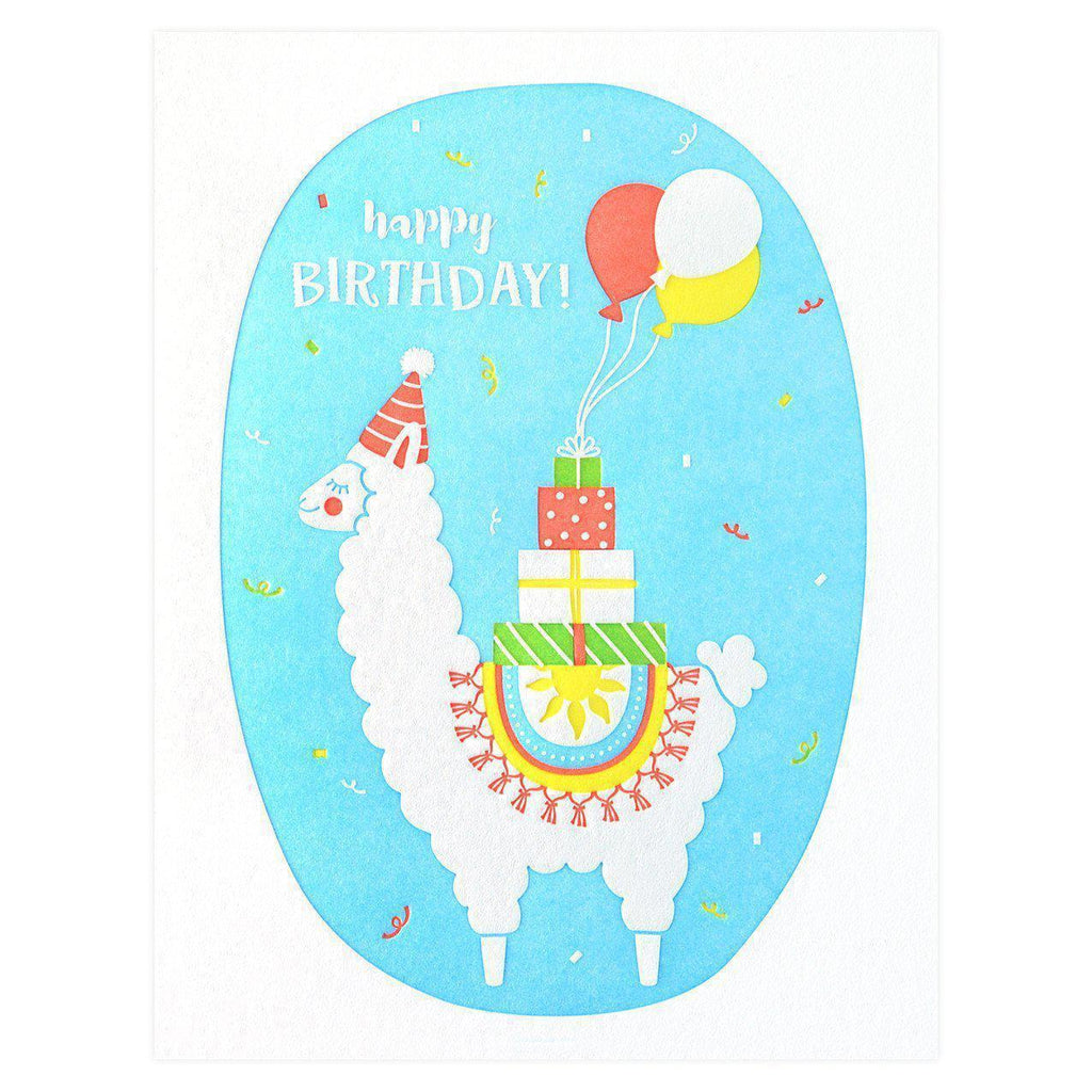 Elum Llama Delivery Birthday Card - GREER Chicago Online Stationery Shop
