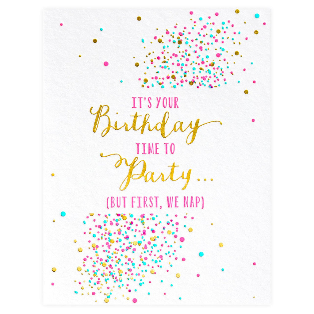 Elum Party and Naps Birthday Card