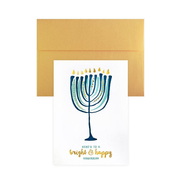 Nouveau Menorah Hanukkah Cards Boxed By Elum - 1