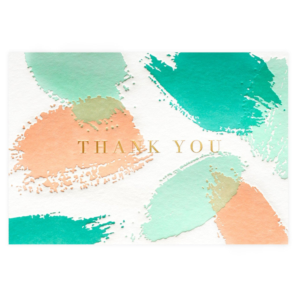 Palette Folded Thank You Card - GREER Chicago Online Stationery