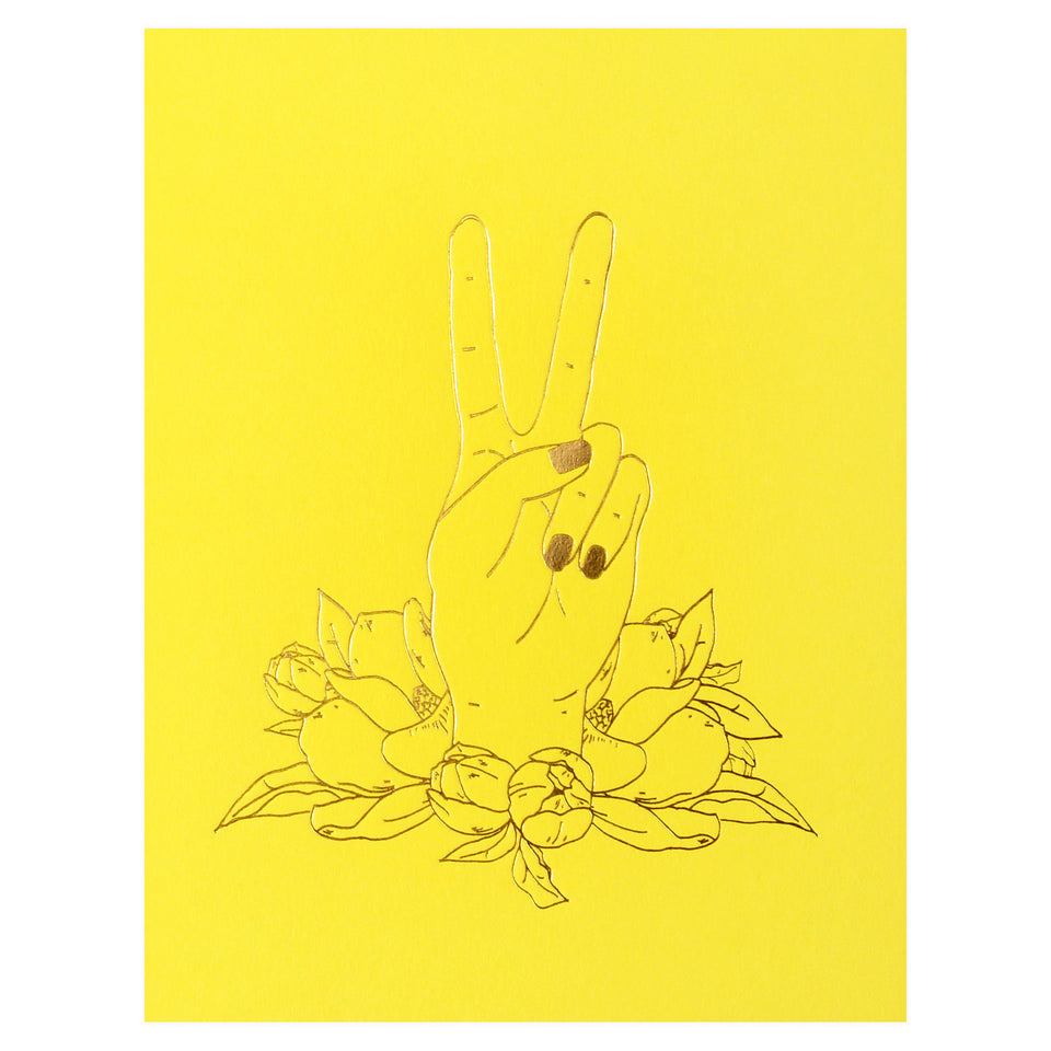 Elum Peace Magnolia Greeting Card
