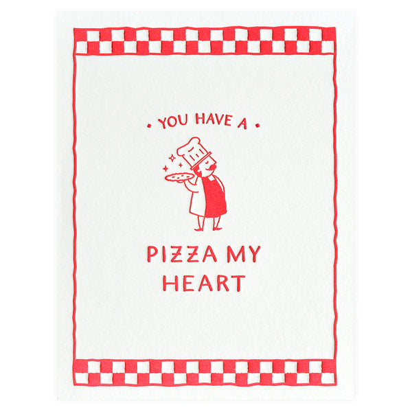 Elum Pizza Guy Valentine's Day Card - GREER Chicago Online Stationery Shop