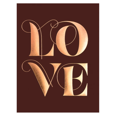 Elum Swooshy Love Greeting Card - GREER Chicago Online Stationery Shop