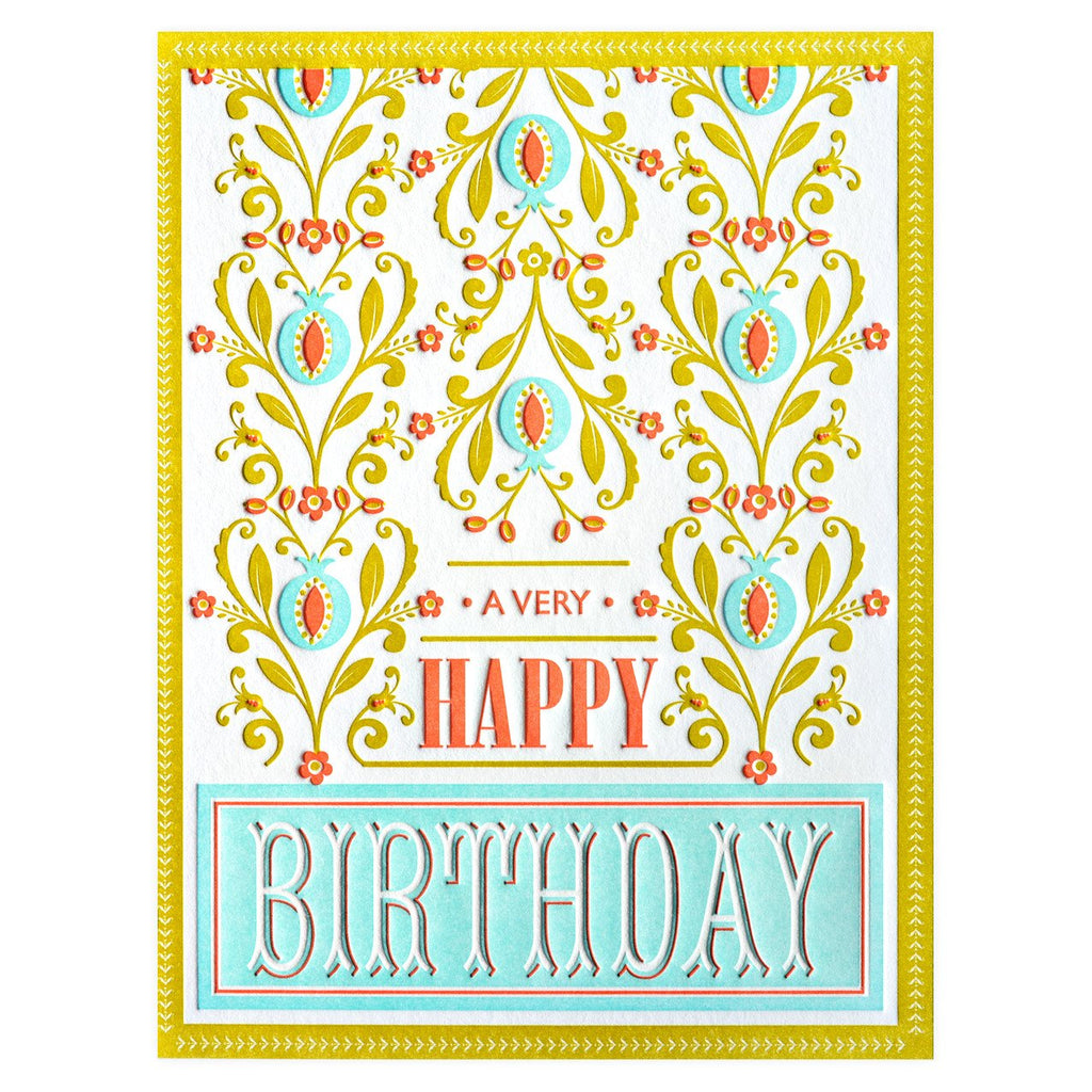 Tea Towel Birthday Card - GREER Chicago Online Stationery