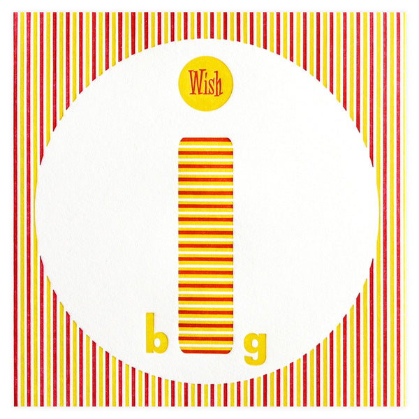 Wish Big Birthday Card - GREER Chicago Online Stationery