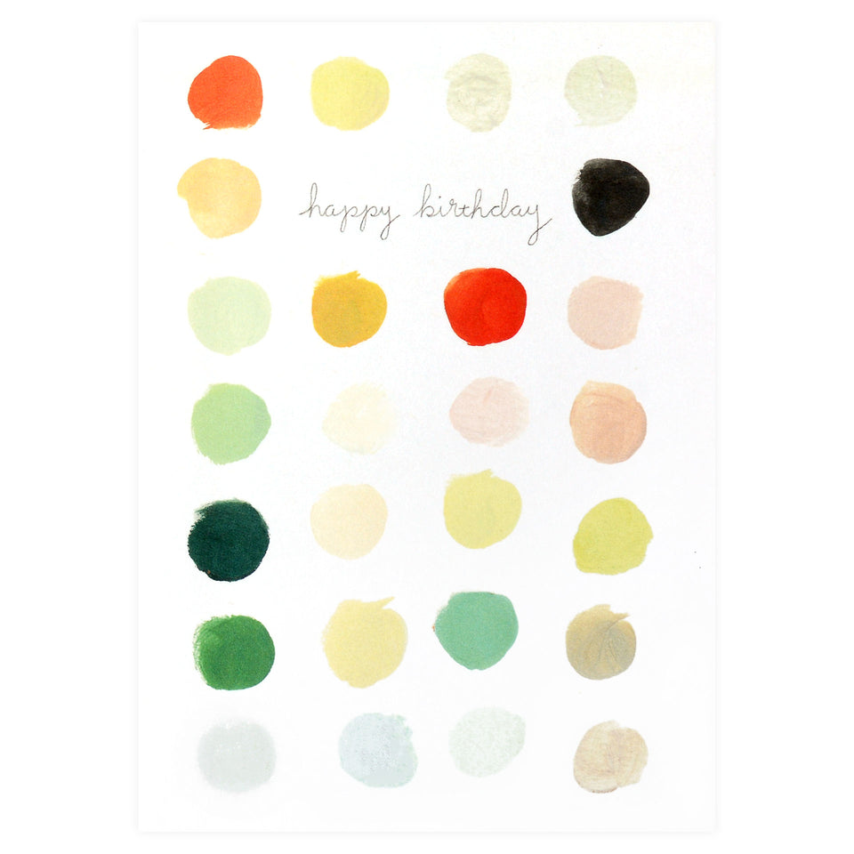 Emily Winfield Martin Happy Birthday Palette Greeting Card
