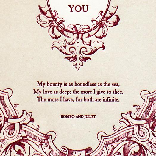 English Lit Valentine - GREER Chicago Online Stationery
