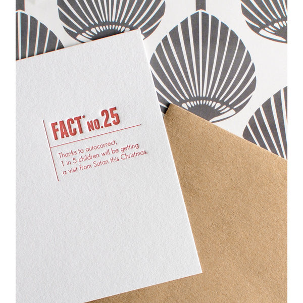 Fact No. 25 Autocorrect Holiday By Sapling Press - 1