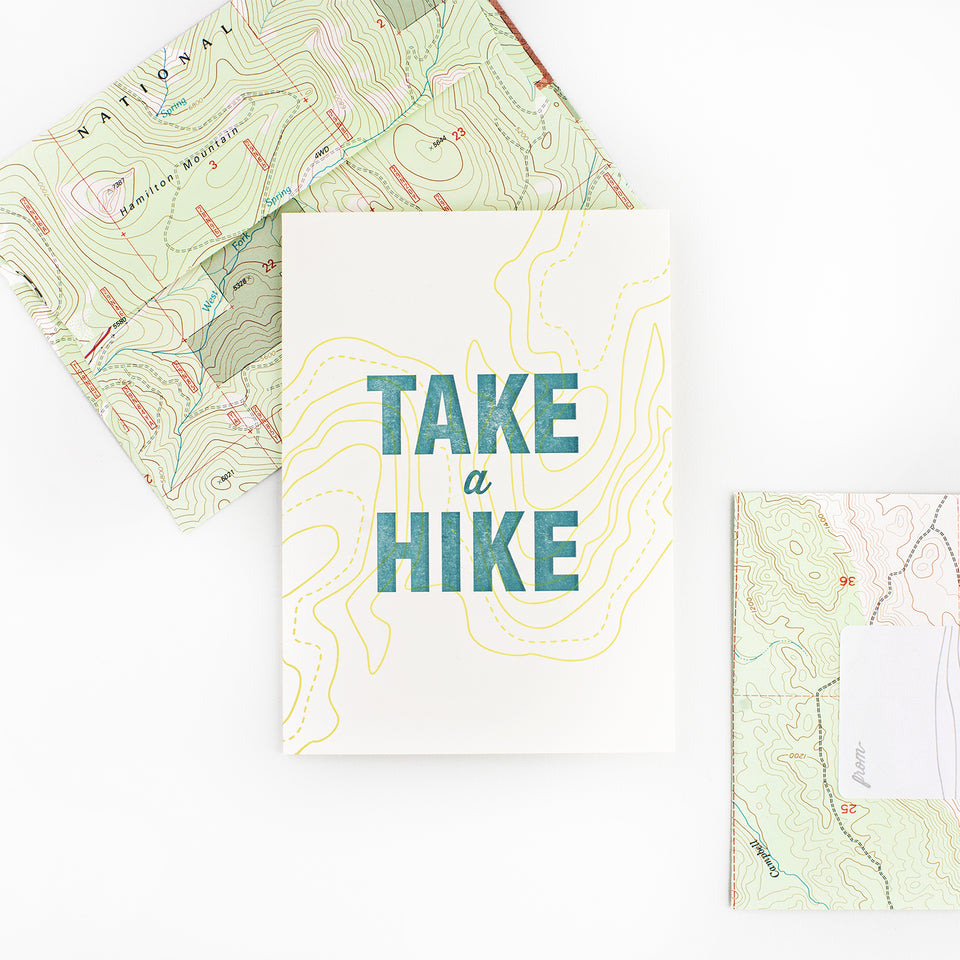 Fancy Seeing You Here Take A Hike Greeting Card