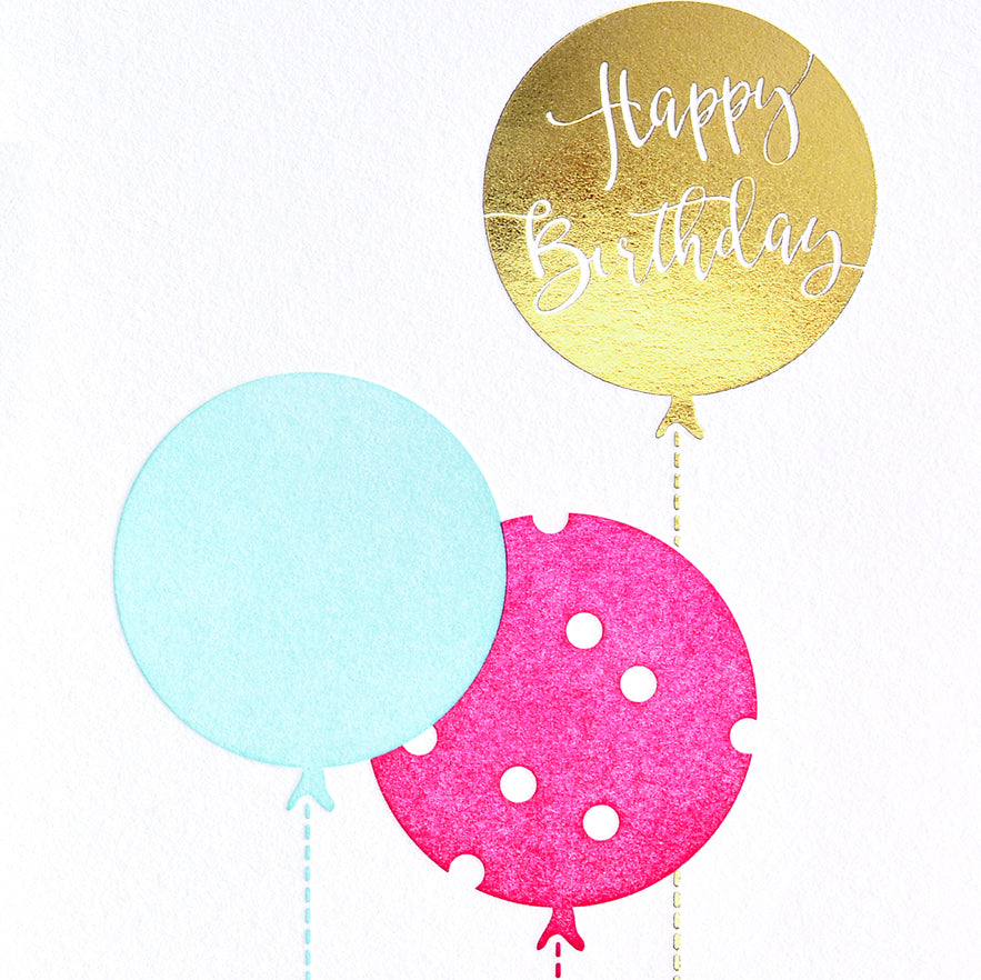 Farmwood Press Birthday Balloons Card - GREER Chicago Online Stationery Shop