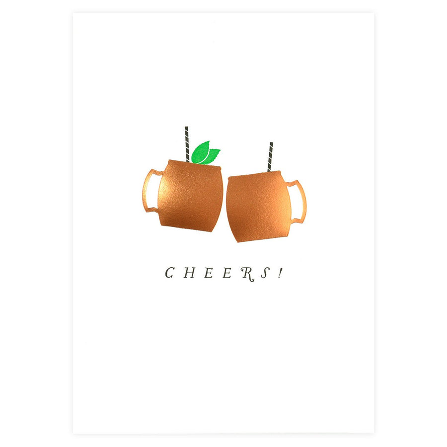Farmwood Press Cheers! Moscow Mule Greeting Card - GREER Chicago Online Stationery Shop