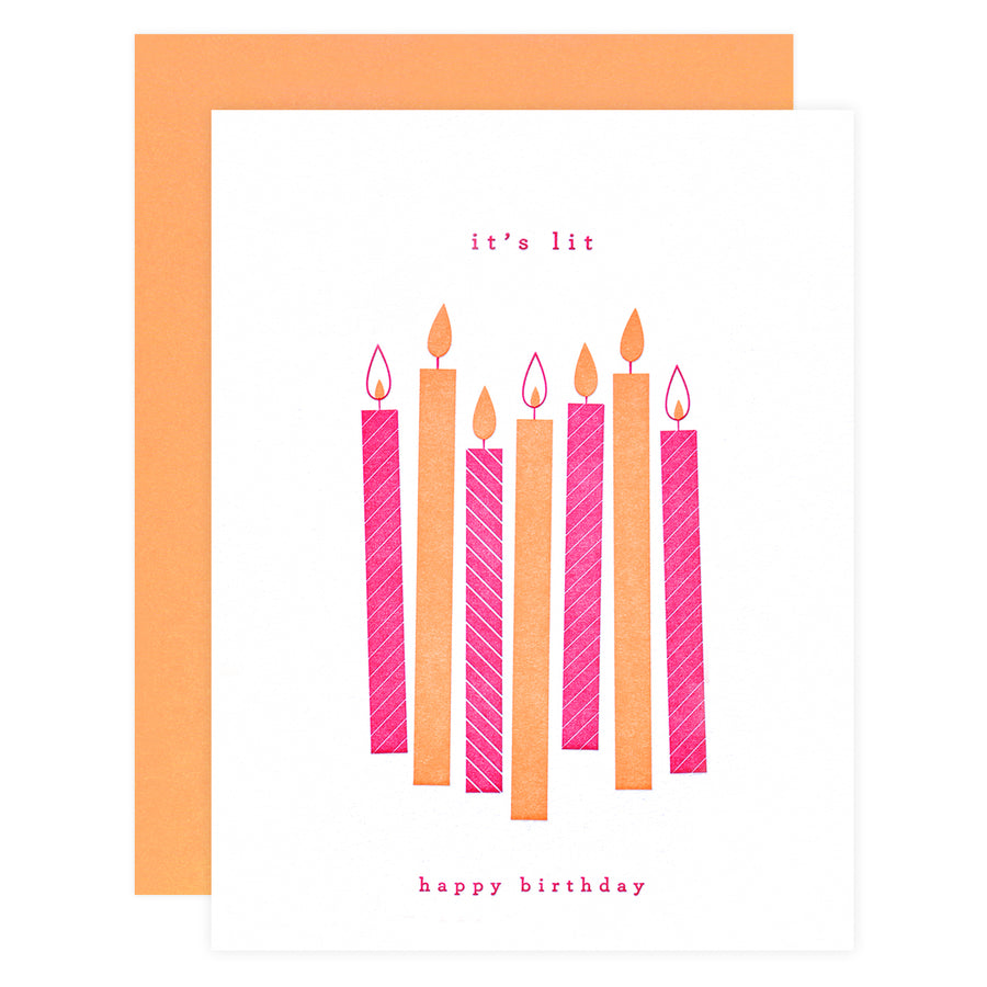Farmwood Press It's Lit Birthday Card - GREER Chicago Online Stationery Shop