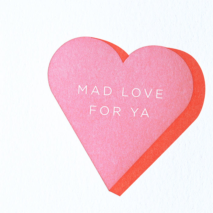 Farmwood Press Mad Love For Ya Heart greeting card - GREER Chicago Online Stationery Shop