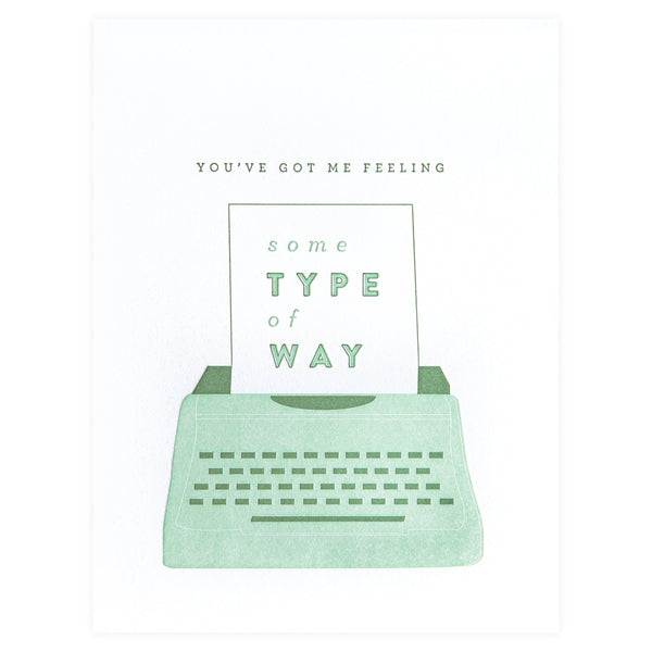 Farmwood Press Type of Way Greeting Card - GREER Chicago Online Stationery Shop