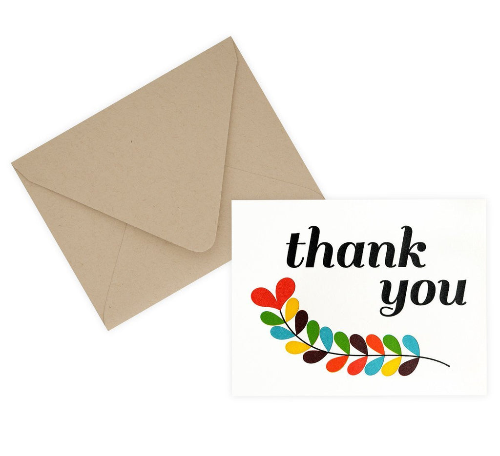 Thank You Fern Boxed Cards - GREER Chicago Online Stationery