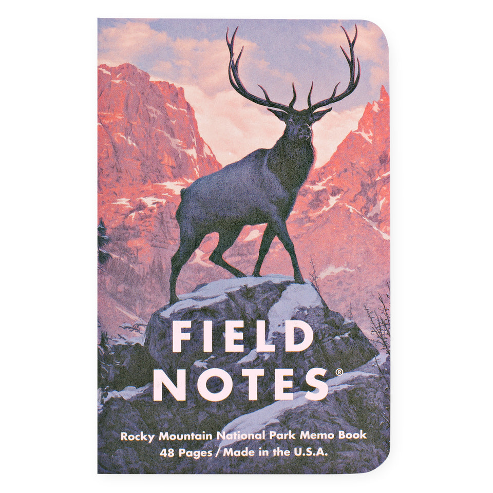 Field Notes National Parks Series C Set of 3 Notebooks | Rocky Mountain, Great Smoky Mountains, Yellowstone