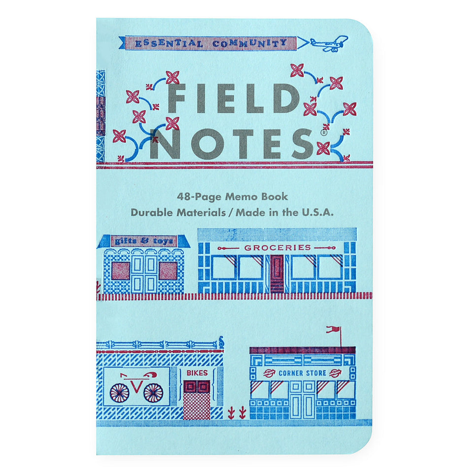Field Notes Field Notes United States Of Letterpress Set of 3